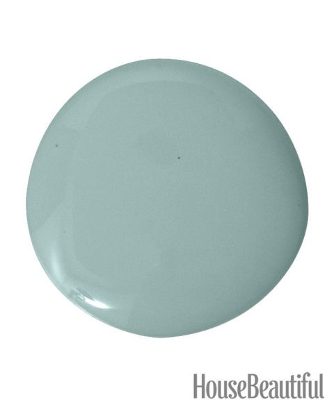 """""""This is not the usual navy blue or China blue. It's got a lot of green and gray in it, and it's saturated. I wouldn't call it a safe choice. It's striking, but very pleasing."""" —Katie Ridder Make it yours: Farrow & Ball Dix Blue 82"""