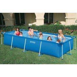 INTEX Familie Pool 58982, Rechteck-Pool FAMILY II 450x220x84cm