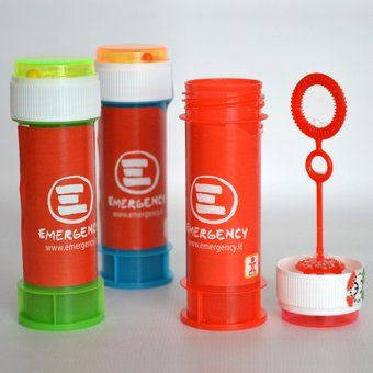Bolle di sapone (4 pezzi) - shop.emergency.it - Shop ufficiale emergency dove trovare gadget, idee regalo, libri ed abbigliamento