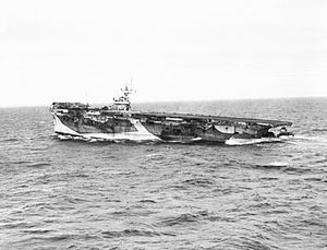 HMS Nabob (D77) 1943, was a Bogue-class escort aircraft carrier which served in the Royal Navy during 1943 and 1944. The ship was built in the United States as USS Edisto (CVE-41) (originally AVG-41 then later ACV-41) but did not serve with the United States Navy. Was transferred under Lend-Lease to the United Kingdom on 7 September 1943 prior to her commissioning.
