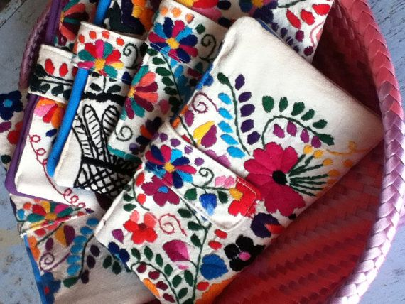 Mexican Embroidered Wallet by EricaMaree on Etsy