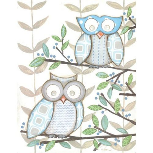 simplistic owls with patterns