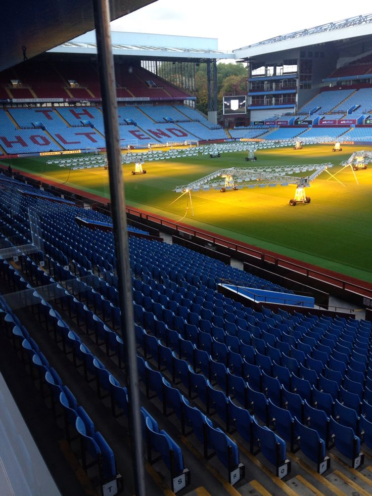 View from a private box,at Aston Villa Football Club