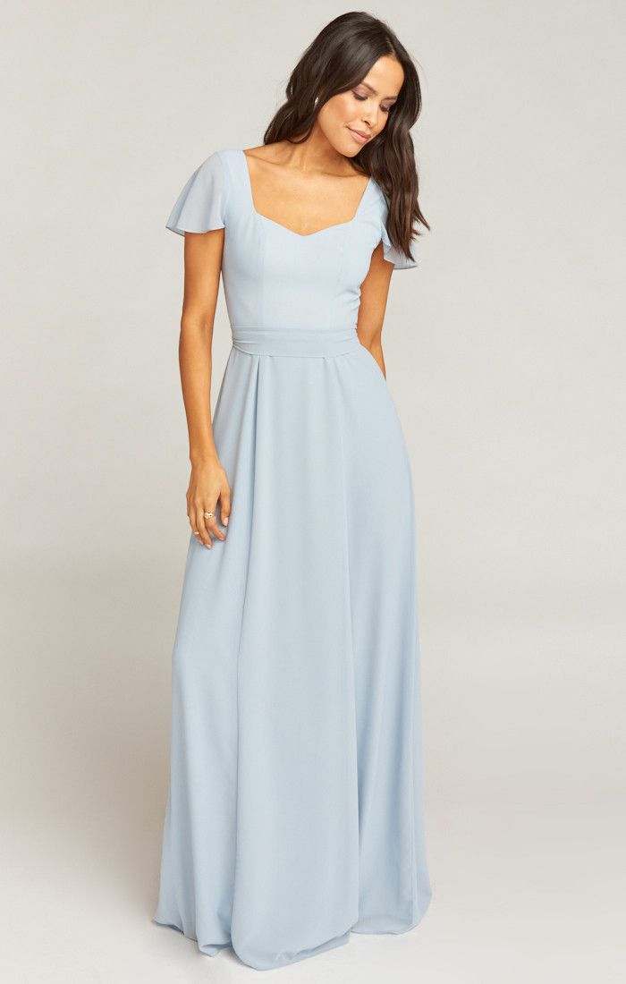 1b636f24414 Marie Sweetheart Maxi Dress ~ Steel Blue Chiffon in 2019