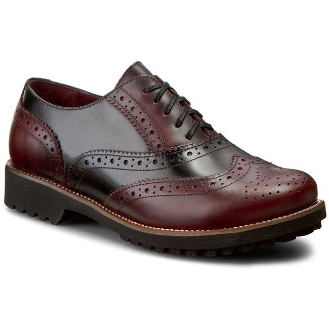Oxford cipők ANN MEX - 7621 01F+14F Bordó Fekete