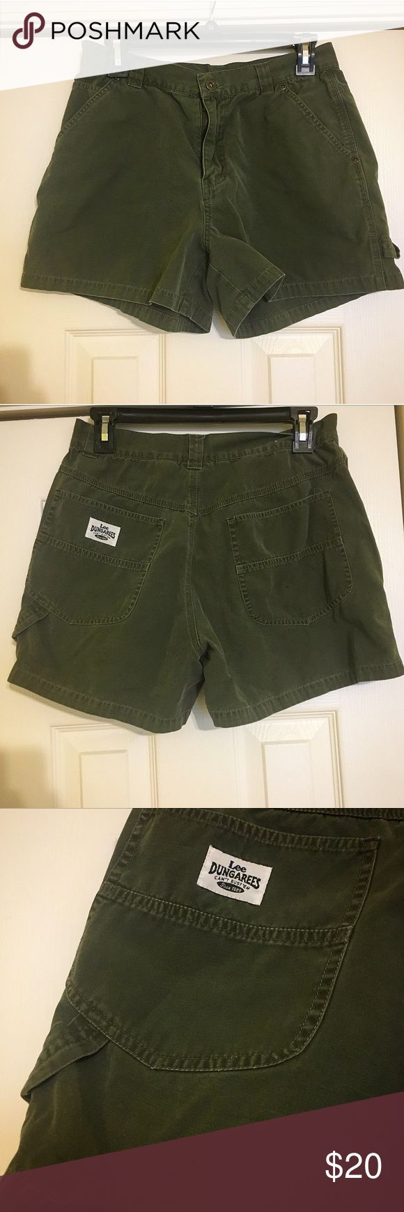 Lee Dungarees Dark Green Shorts Size 11 Lee Dungarees Size 11 Dark Green Shorts   Material: 100% cotton  Only worn a few times! Does have small spot on back pocket  ~~~  Thanks for stopping by! New items being added the rest of this week ✔️   Check out the rest of my closet & bundle to save 💲💲💲   Open to reasonable offers 💰  All items come from a smoke-free home & are packaged with love & care 💕   Please comment with any questions/inquires ☺️ much love Lee Shorts Cargos