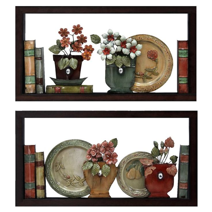 2 Piece Faux Bookshelves Wall Du00e9cor Set By Red Barrel Studio Sunburst Wall Decor Wall Bookshelves Wall Decor Set