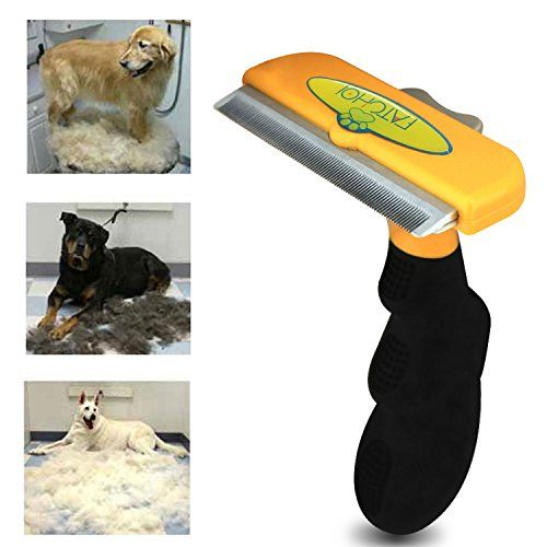 Dog & Cat Brush For Shedding Best Long & Short Hair Pet Grooming Tool Reduces Dogs and Cats Shedding Hair By More Than 90% The Chirpy Pets Deshedding Tool