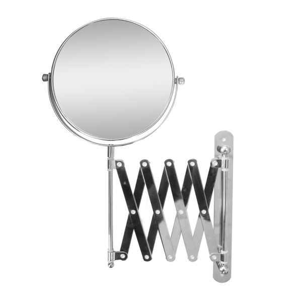 Apply your makeup with ease using this extendable wall-mount makeup mirror. The 2X magnification makes it easy to see small details to make sure you didn't miss anything or get a close-up view for twe