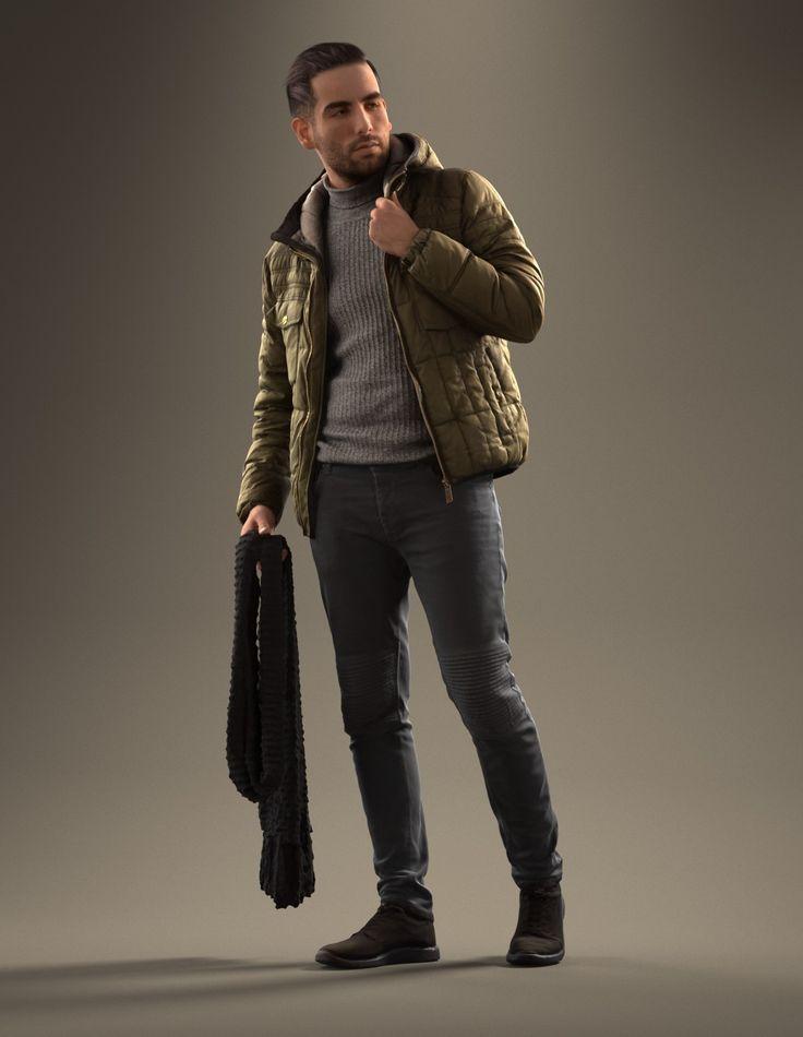 fashionable man male 3d model