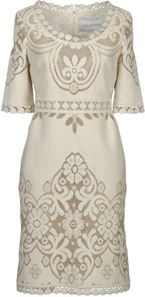 VALENTINO Beautiful woven lace dress (for wedding!) | Brand dress rental salon''SHIROTA''