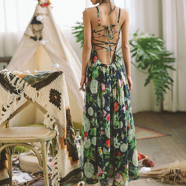 Сексуальное длинное платье из шифона