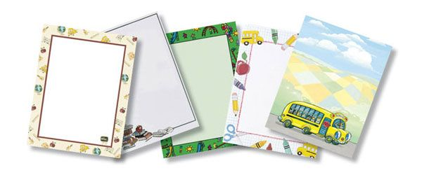 School Themed Printer Papers - Very Cute!