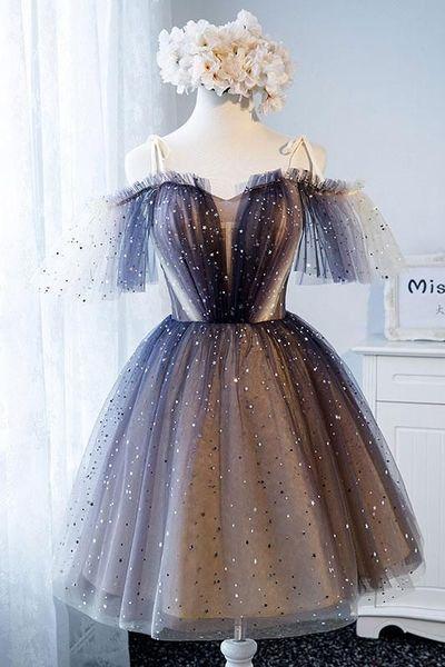 Unique tulle short prom dress,Party Dresses tulle homecoming dress,Prom Dresses, from HotProm