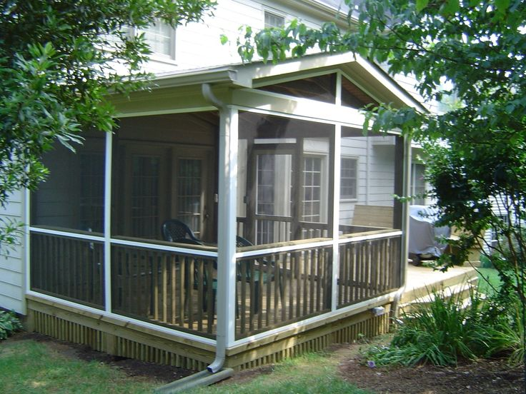 home depot screened in porch kits screen porch 3 front. Black Bedroom Furniture Sets. Home Design Ideas