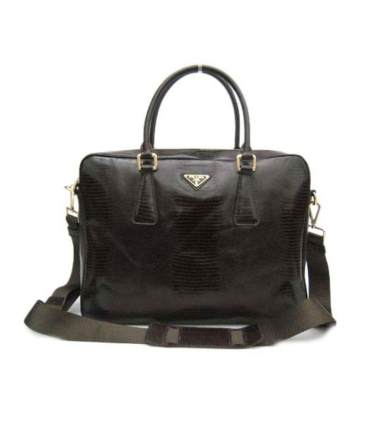 Prada Shoulder Tote Men Bag Dark Coffee Croc Pattern: Computers Bags, Fashion Bags, Bags Lovin, Men Fashion, Men Bags, Dark Coffee, Coff Men, Bags Lady, Bags Dark
