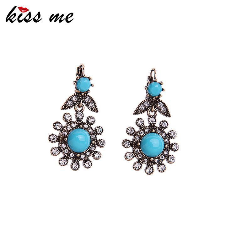 KISS ME New Statement Earrings for Girls Top-Rated Fashionable Vintage Jewelry Geometric Earrings for Women