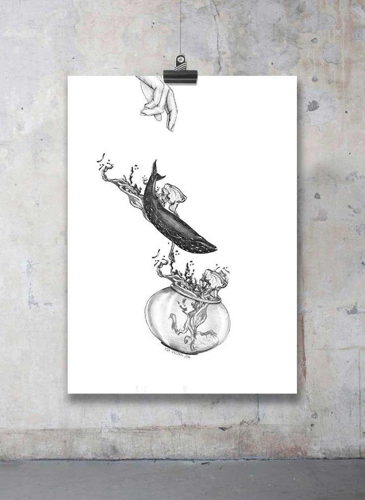 Släpp valarna fria! via Mia Valgren Illustration. Click on the image to see more!