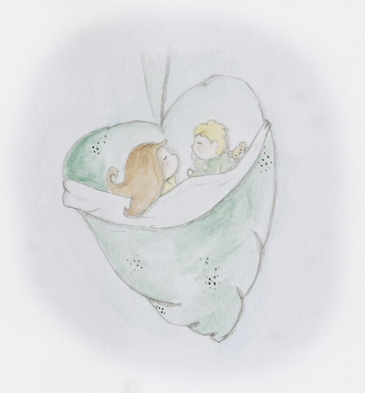Bonus Challenge: Cocoon  Watercolours and pencil. I hope you like the Webblings safe and snug asleep in a cocoon xxx: