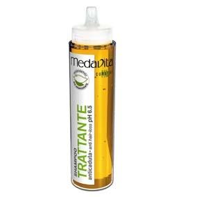 Medavita SHAMPOO TRATANTE ANTICAIDA 250ML Champú anti-caída con extractos vegetales de Fárfara, Milenrama y Quina. Limpia delicadamente y previene el debilitamiento del cabello.