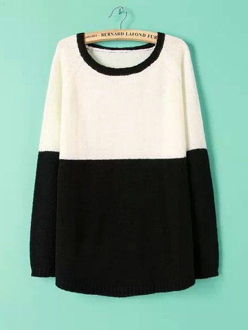 Designer sweaters simple color matching raglan sleeve tops CY-D1024C13