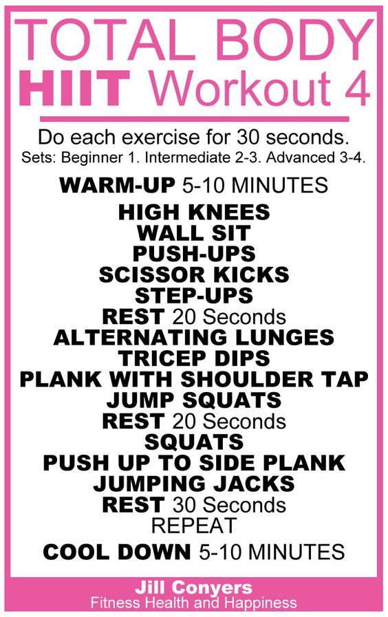 Total Body HIIT Workout 4 | HIIT | Full body hiit workout ...