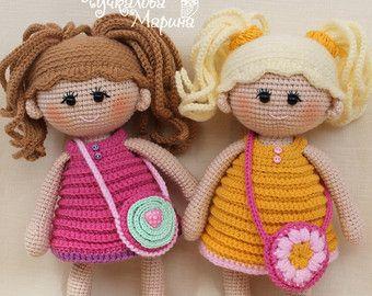 """Crochet patrones de muñeca """"Pumposhka"""" PDF"""