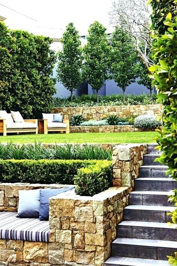 tiered garden landscape ideas backyard best tiered garden ... on Tiered Yard Ideas id=87978