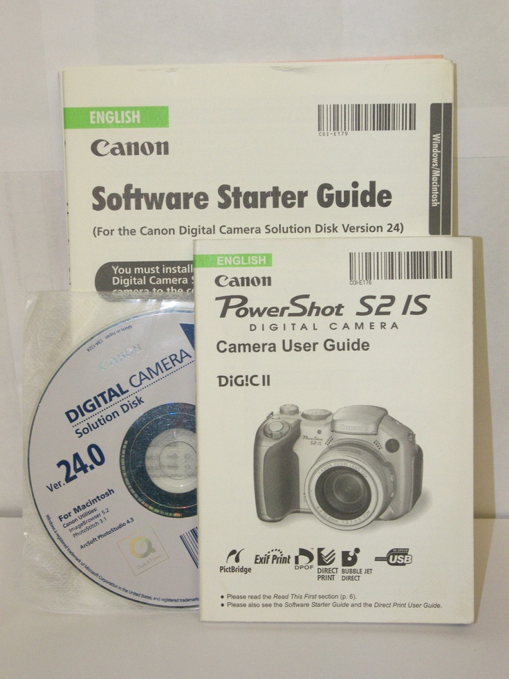 Canon PowerShot S2 IS Manual & Software