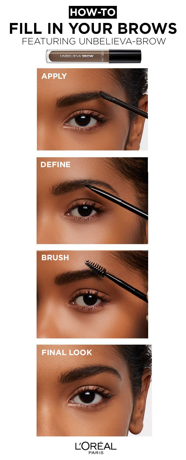 1a25d992a727 How to fill in your brows featuring Unbelieva-Brow Longwear Eyebrow Gel.  Apply, Define and Brush.