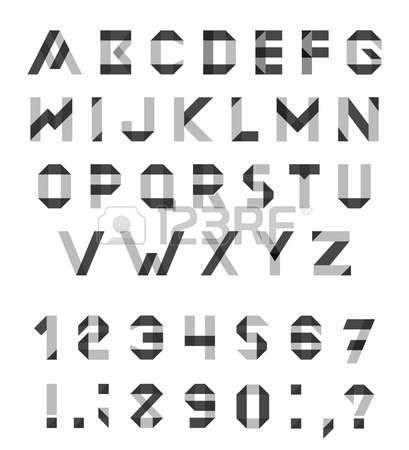 Conjunto del alfabeto fuente geométrica Diversión.