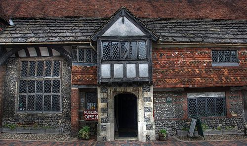 Anne of Cleves House, East Sussex, England.  She never lived here, but it was one of many properties she owned after her annulment.  I would love to sit down to dinner with her and hear her story...