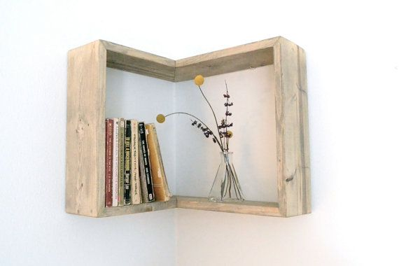 Corner Box Shelf by The807 on Etsy, $40.00 I want this one…. I can already think of ten places to put it!!!!