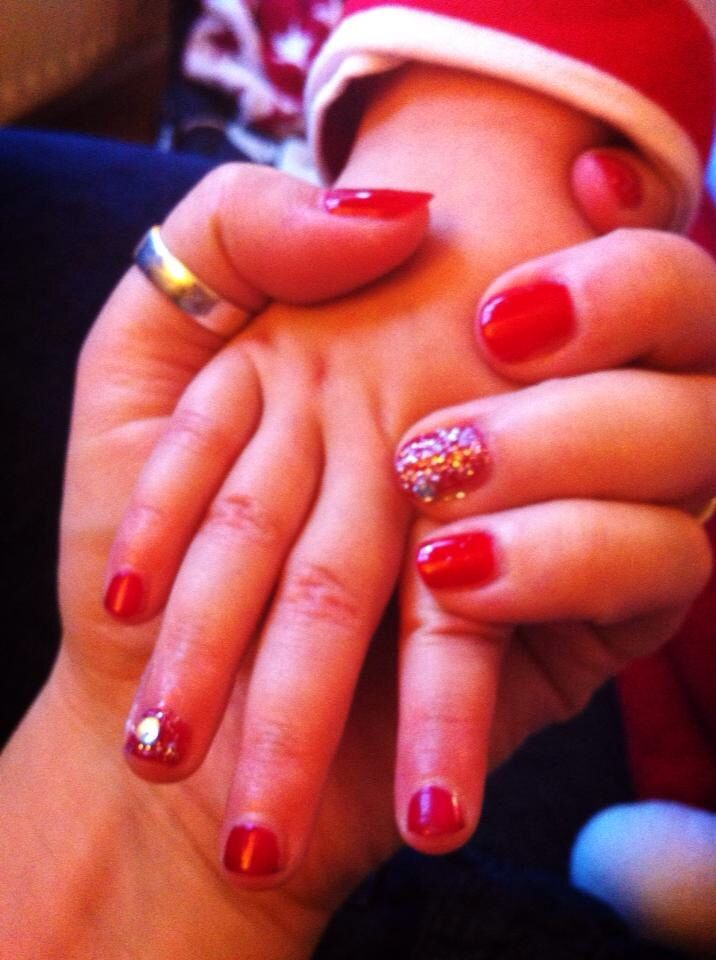 Mother and daughter nails :-)