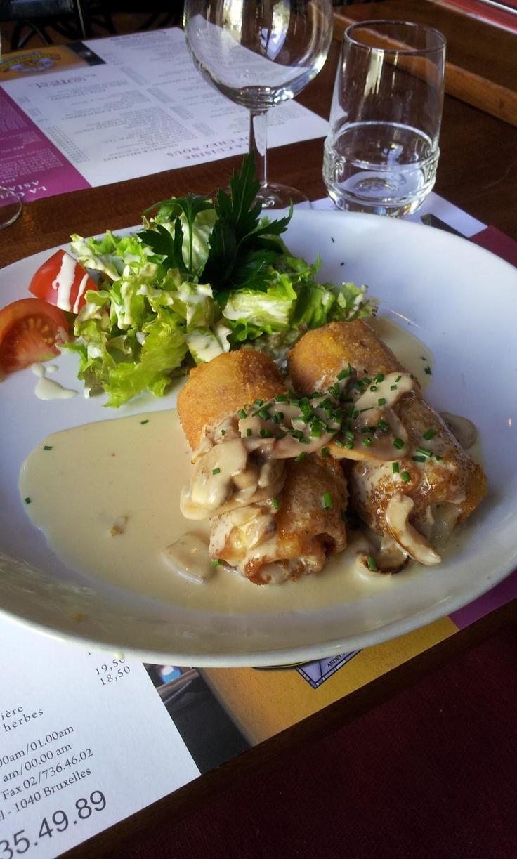 Roulade de cordon bleu sauce archiduc
