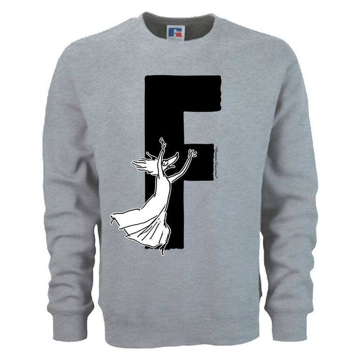 Moomin Alphabet sweatshirt - F as in Fillyjonk - The Official Moomin Shop - 1