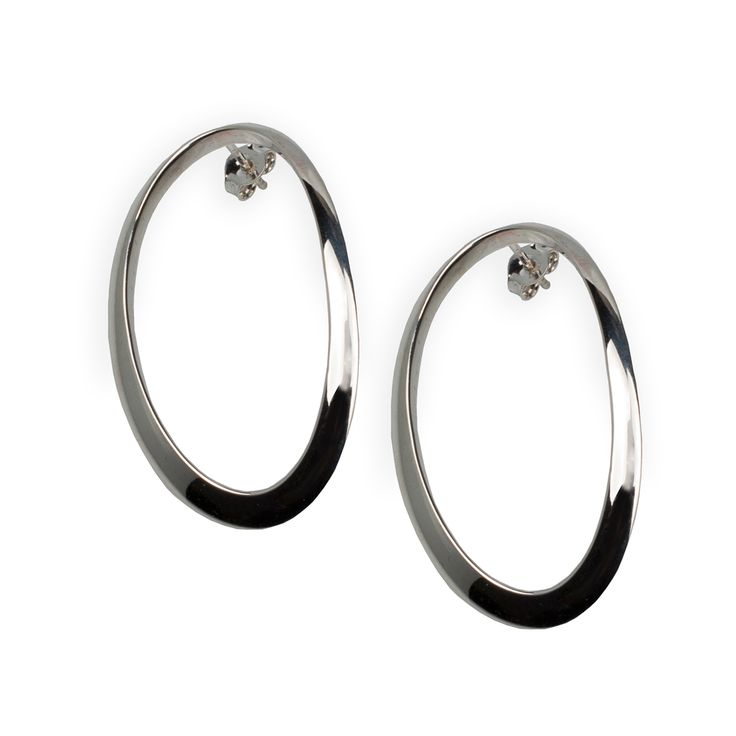 """Delicateearringsfrom NOILENCE's Luminous collection.  Materials: Sterling silverwith sterling silver ear wires and ear nuts  Measurements:4.5 cm x 2.5 cm (1.8"""" x 0.9"""")  Designed in: Greece  Crafted in: Greece"""
