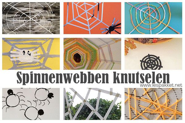 Thema herfst: spinnenweb knutselen - Lespakket