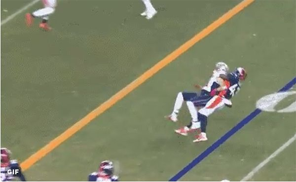 Julian Edelman Flips Out After Getting Violently Tackled By T.J. Ward —Watch