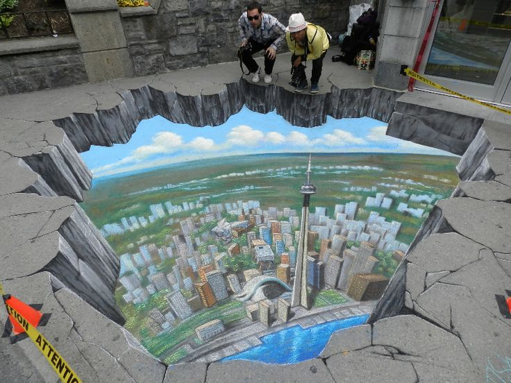 Amazing 3D Chalk Street Art : Punkys