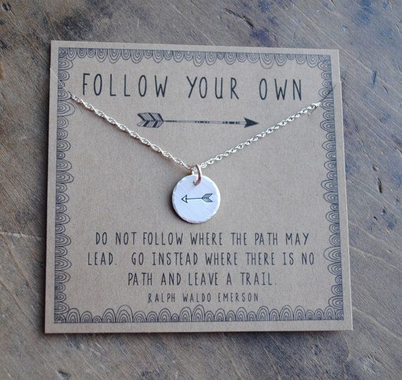 Following Your Own Arrow Necklace personalized by honeyverse