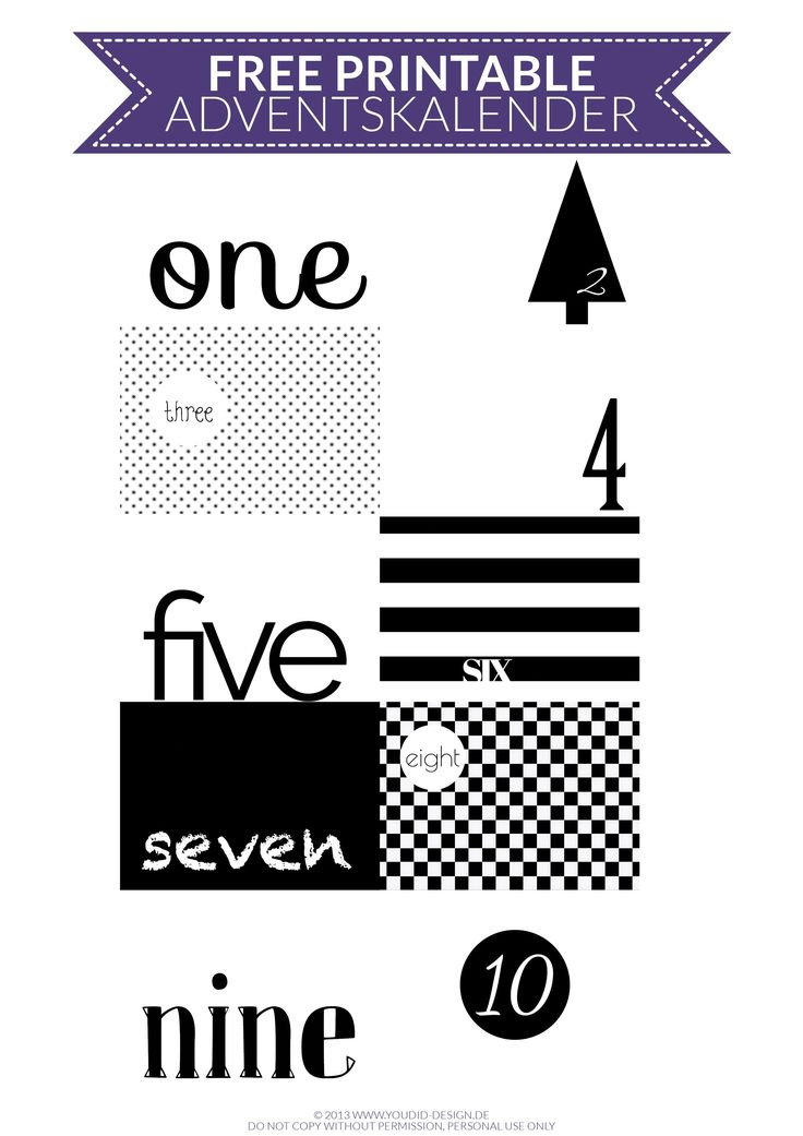 "DIY | Adventskalender ""Black and White"" 