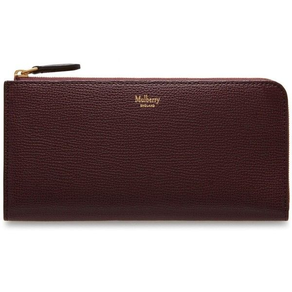 Mulberry Long Part Zip Wallet ($340) ❤ liked on Polyvore featuring bags, wallets, oxblood, mulberry wallet, long wallet, zipper change purse, change purse wallet and coin pouch