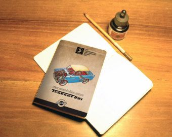 Sketchbook, notebook, Trabant, digital print, DDR, Canson paper, Central European car