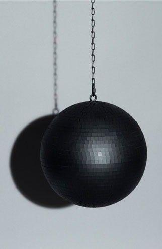 matte black disco ball!