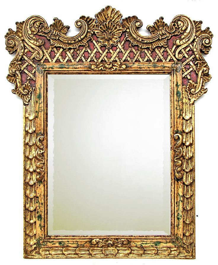 Model: Carved Gilded Frame OD - 44 x high ID - x high Original frame found  in: Mexico Circa Molding Width - Measurements: Length: Width: Height: