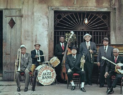 The Preservation Hall Band in New Orleans, 1970