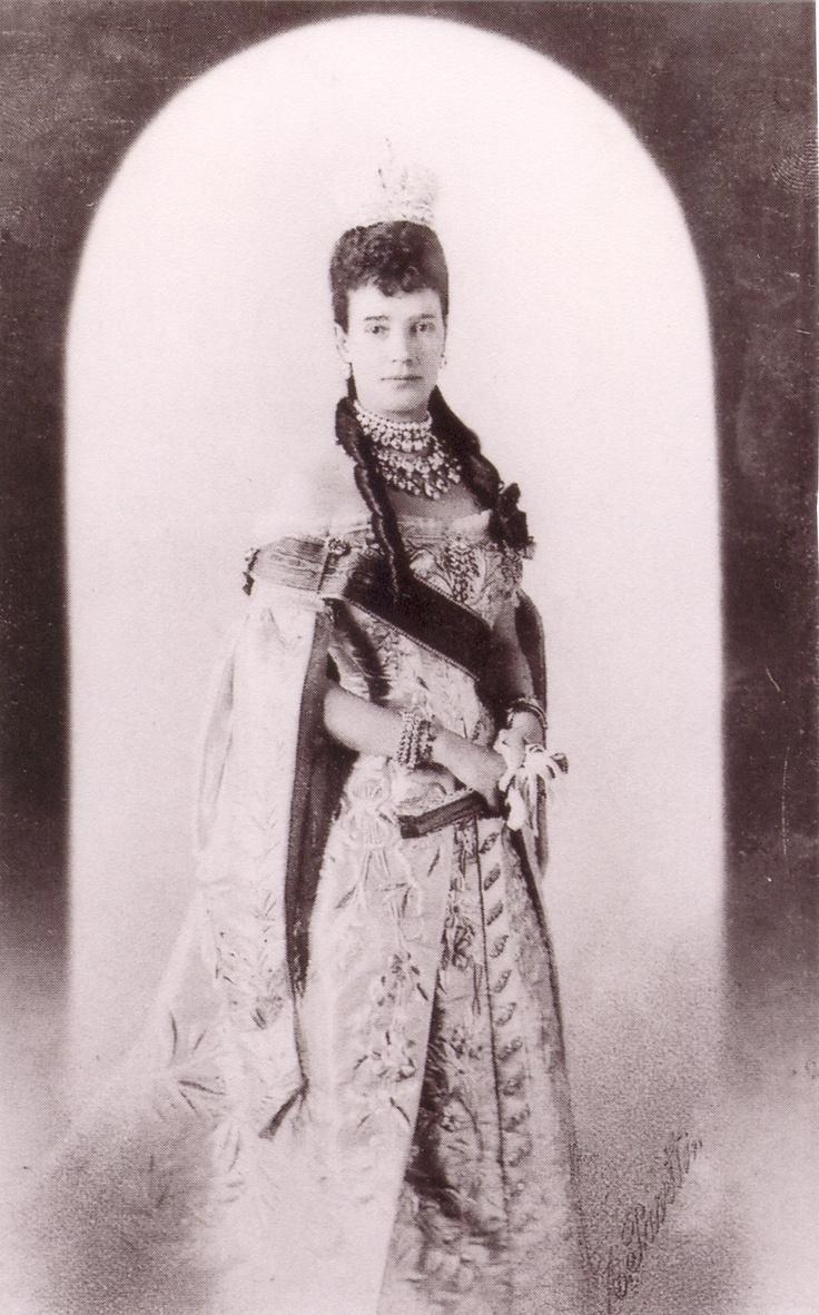 1896: Empress Maria Feodorovna At The Coronation Of Her Son, Nicholas Ii