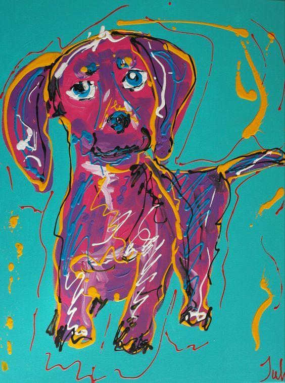 344 best Dachshund Contemporary Art images on Pinterest | Modern ...