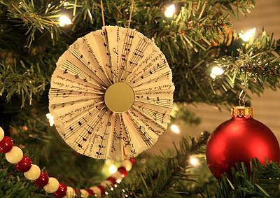 Music ornamentSheet Music Ornaments, Music Paper, Vintage Sheet Music, Google Search, Paper Fans, Music Sheets, Fans Christmas, Christmas Ornaments, Bliss Roads